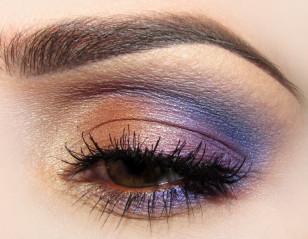 Gotowy makijaż oka przy zamkniętej powiece