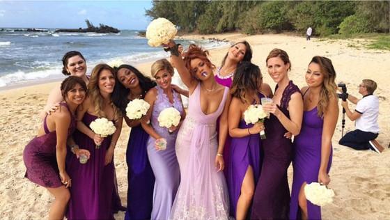 Rihanna na ślubie przyjaciółki
