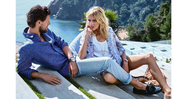 Anja Rubik i Sasha Knezevic w letniej kampanii Massimo Dutti