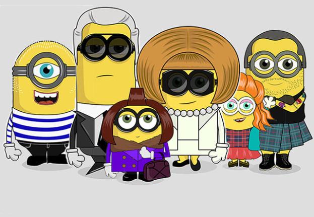 Anna Wintour, Alexa Chung i Karl Lagerfeld jako… minionki