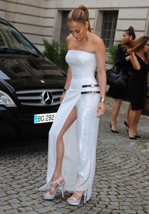 Jennifer Lopez na pokazie Atelier Versace