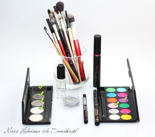 Carnival makeup with glitter: used in cosmetics.