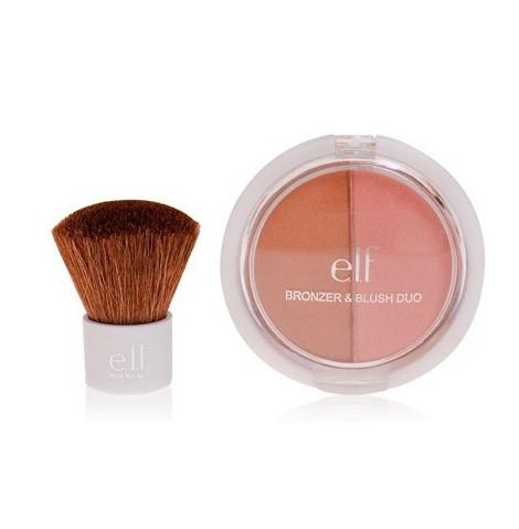e.l.f., 2 Piece Blush & Bronzer Set, zestaw do konturowania z pędzlem (Cena: 19 zł)
