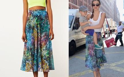 W stylu gwiazdy: Miranda Kerr w spódnicy Topshop