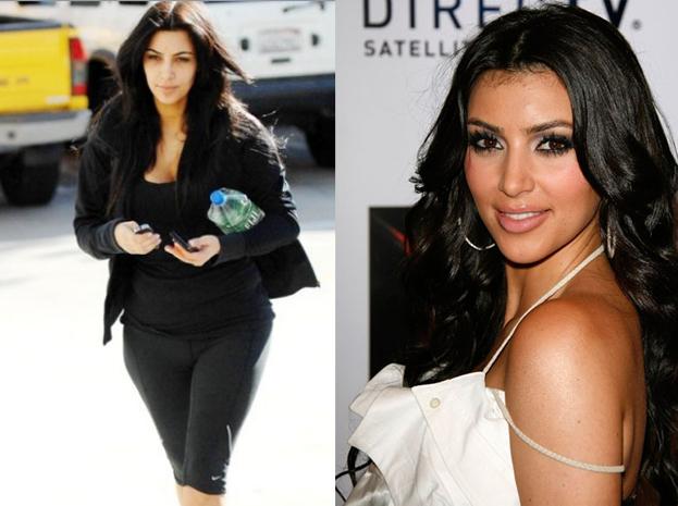 makijaż gwiazd, bez makijażu, gwiazdy bez makijażu, gwiazdy bez photoshopa, brzydkie gwiazdy, celebrytki bez makijażu ,Kim Kardashian
