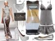 Moda z wybiegów srebro