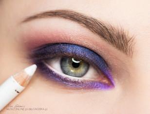 Linię wodną w oku pomaluj na biało.