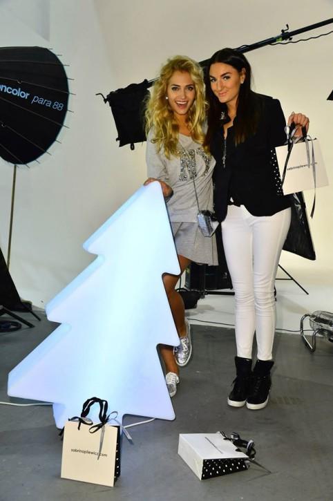 X_MAS'14 Świąteczna kampania Sabriny Pilewicz - zdjęcie z backstage'u
