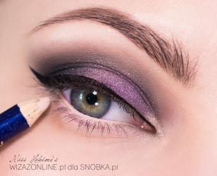 Linię wodną w oku pomaluj na kolor cielisty.