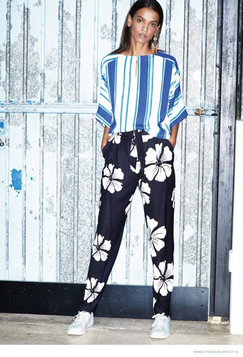 Liya Kebede w kampanii Mango Premium zima 2014