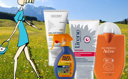 Kosmetyczna Agentka: piknikowe opalanie  ponad 70 kosmetyków