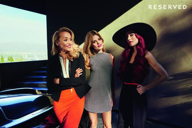 Georgia May, Lizzy Jagger i Jerry Hall w wiosenno-letniej kampanii Reserved, fot. Mateusz Stankiewicz