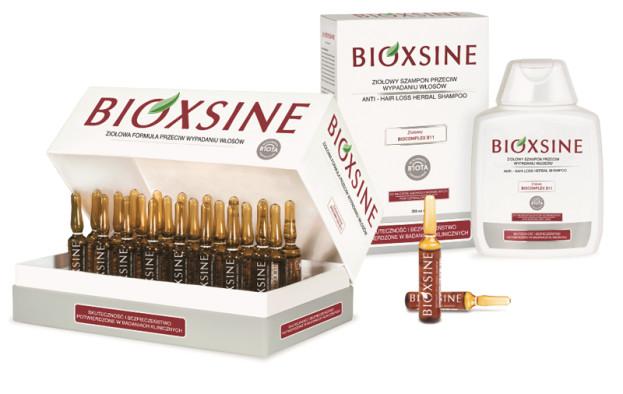 Bioxsine, przeciw wypadaniu włosów: serum w ampułkach (Cena: 199 zł), szampon (Cena: 42 zł)