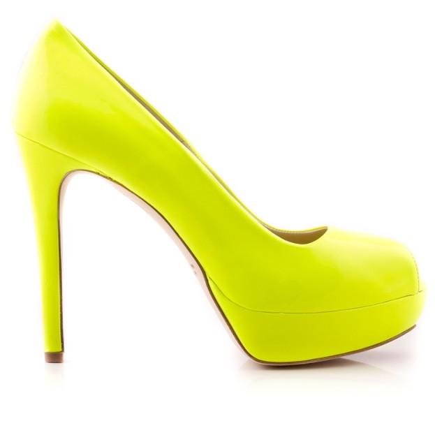 Neonowe szpilki marki HEGO'S