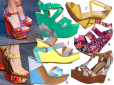 Moda z wybiegów: sandały na koturnie