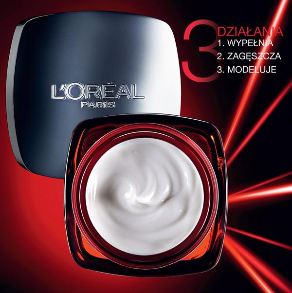 L'Oreal, Revitalift Laser X3, krem redukujący zmarszczki, przywracający gęstość skóry i poprawiający owal twarzy (Cena: 45 zł, 50 ml)