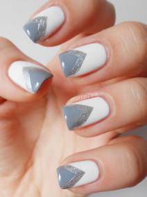 Manicure krok po kroku: Trójkąty