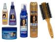 Isana, odżywka  przeznaczona do suchych i zniszczonych włosów (Cena: 8,49 zł, 200 ml), spray do włosów z termoochroną (Cena: 8,49 zł, 150 ml), wosk do włosów (Cena: 8,69 zł, 75 ml), pianka do włosów super mocno utrwalająca (Cena: 6,99 zł, 150 ml), spray do włosów nadający elastyczność (Cena: 6,99 zł, 250 ml), For Your Beauty, okrągła szczotka do włosów (Cena: 27,99 zł)