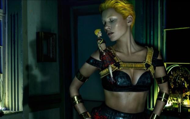 Alexander McQueen. Wiosenno-letnia kampania z Kate Moss, zdjęcia: Steven Klein