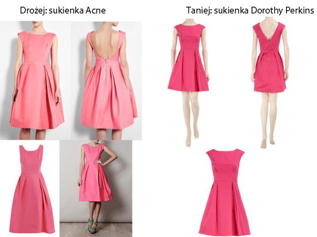 Drożej taniej: sukienki Acne i Dorothy Perkins