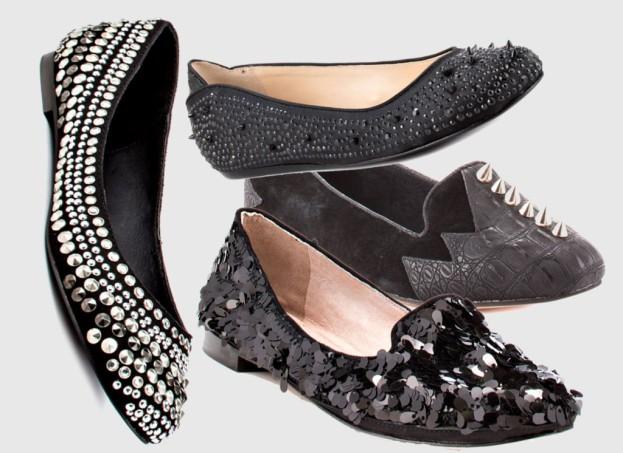 Buty na płaskiej podeszwie w sam raz na imprezę