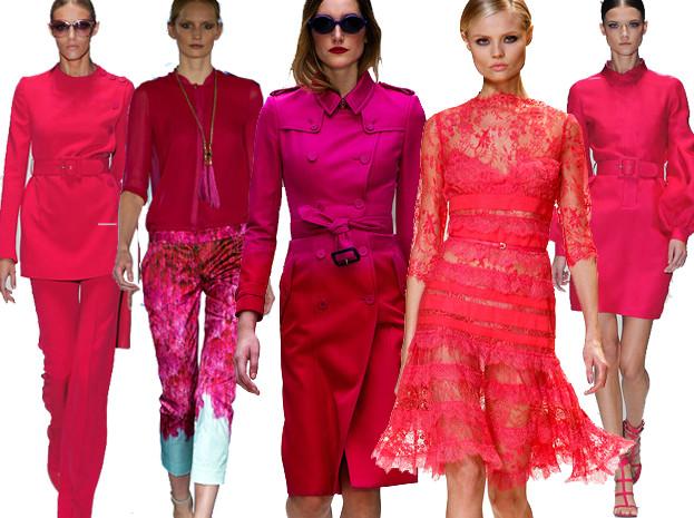 Moda z wybiegów: dużo różu