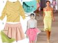 Moda z wybiegów pastele