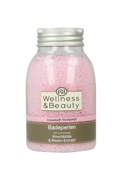 Wellness & Beauty perełki do kąpieli z ekstraktem z kwiatów wiśni i kwiatów róży
