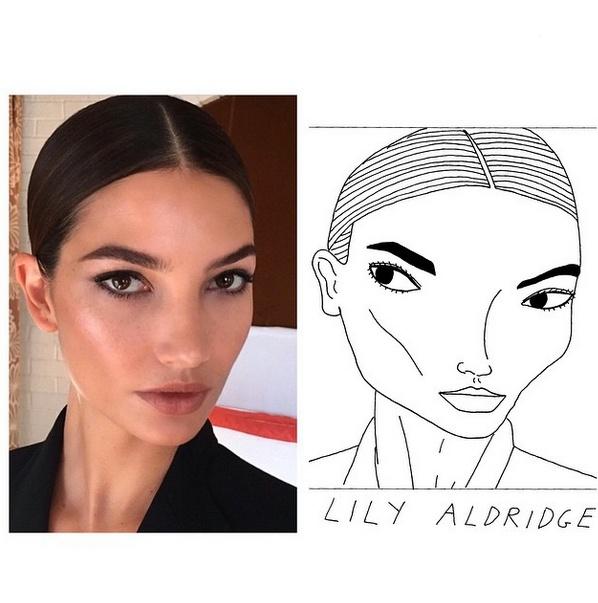Lily Aldridge ma bardzo wyraziste brwi.