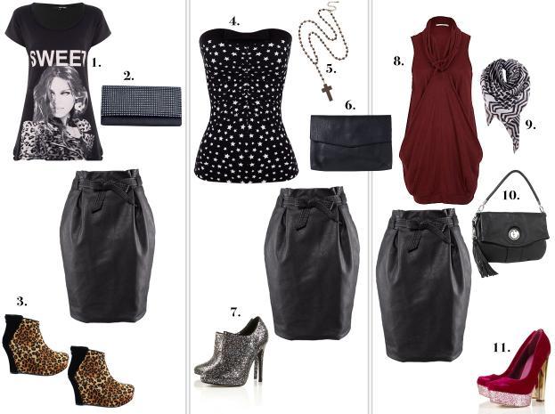Porada: jak nosić czarną skórzaną spódnicę