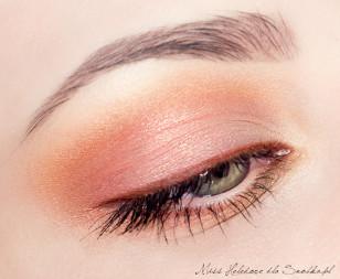 Makijaż oka jest gotowy! Dla dopełnienia proponuję użyć brzoskwiniowego błyszczyka.