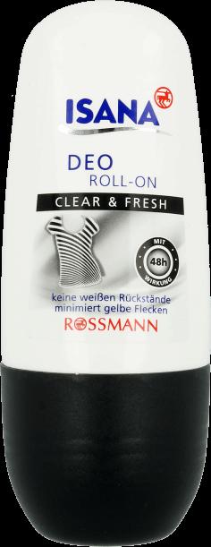 Isana, dezodornat w kulce, Clear& Fresh, 50 ml , cena: 2.99 zł