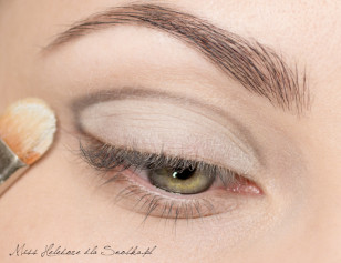 The movable part of the upper eyelid clear coat, matte shadow.