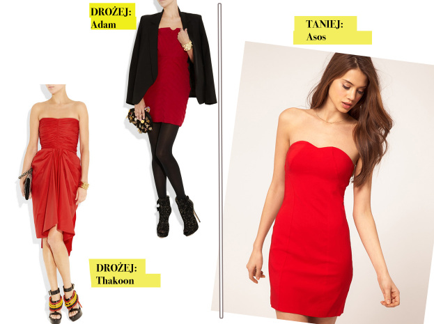 Drożej taniej: czerwona spódnica z koronki SNOBKA