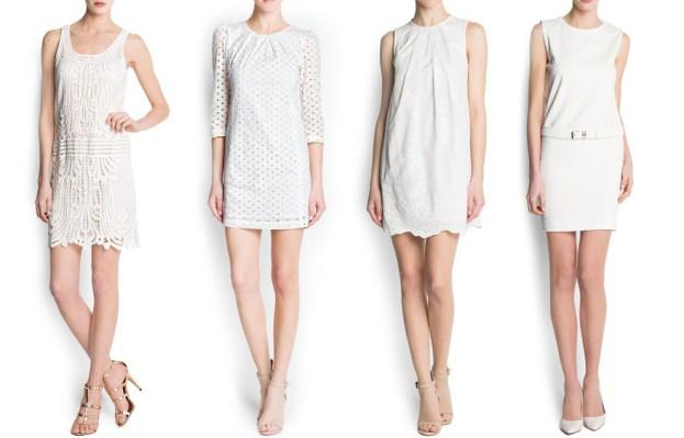 Biała sukienka na lato - Mango