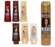 Isana, szampon do włosów rudych i farbowanych na rudo, brązowych, blond (Cena: 7,59 zł, 250 ml), płukanka do włosów brązowych lub blond (Cena:  7,49 zł, 200 ml), Hair Repair odżywka odbudowująca do włosów bardzo zniszczonych (Cena:  7,49 zł, 200 ml), spray do włosów nadający elastyczność mocno utrwalający (Cena:  6,99 zł, 250 ml)