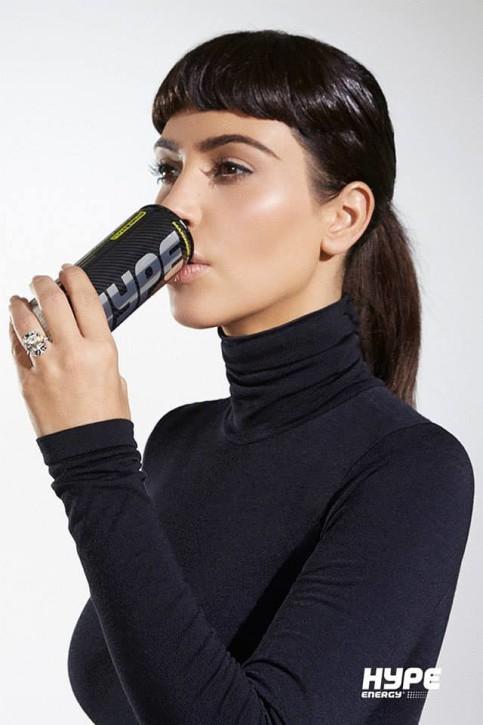 Kim Kardashian w sesji dla Hype Energy Drinks. Fot. John Jansheski