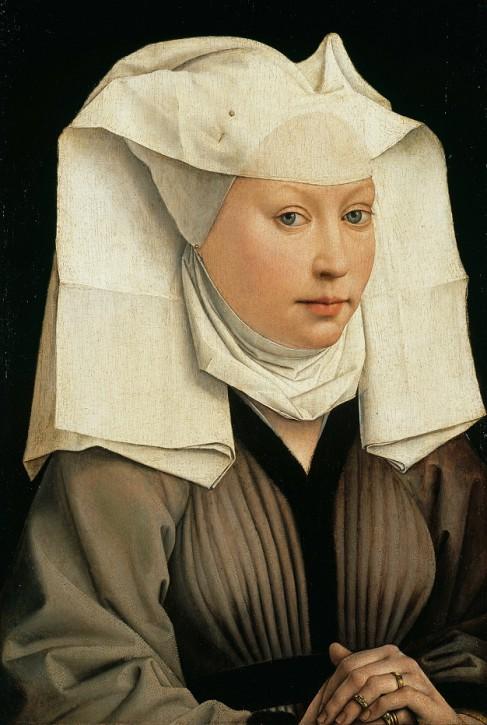 Portrait of a Woman with a Winged Bonnet, Rogier van der Weyden, ok. 1440
