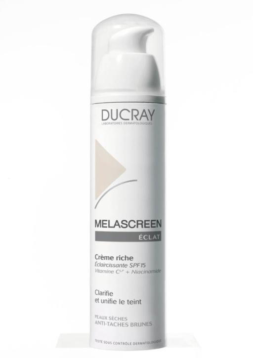 Ducray, Melascreen Riche, krem rozjaśniający przebarwienia do skóry suchej i bardzo suchej (Cena: 92 zł, 40 ml)