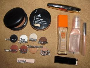 Makijaż: pomarańczowy i złoty