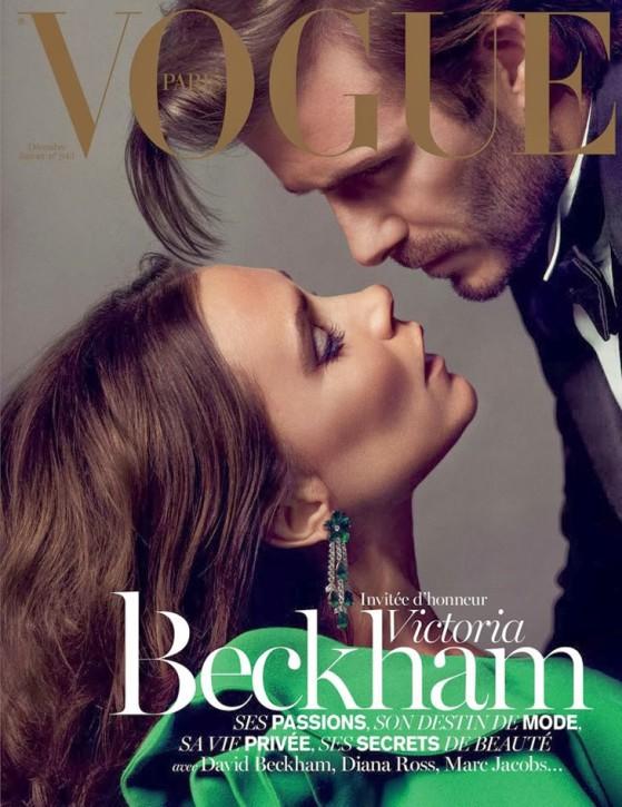 David i Victoria Beckham na okładce paryskiego Vogue'a, fot. Inez van Lamsweerde i Vinoodh Matadin