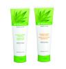 Herbalife, aloesowy szampon wzmacniający z dodatkiem protein pszenicy (Cena: 48 zł, 250 ml), aloesowa odżywka wzmacniająca z formułą chroniącą kolor (Cena: 48 zł, 250 ml)