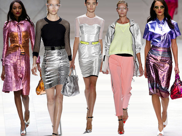 Moda z wybiegów: metalik