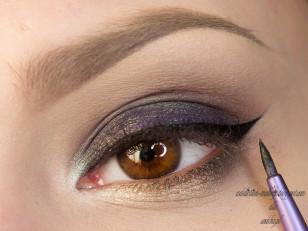 Czarnym eyelinerem rysuję kreskę (Maybelline eyeliner w żelu)