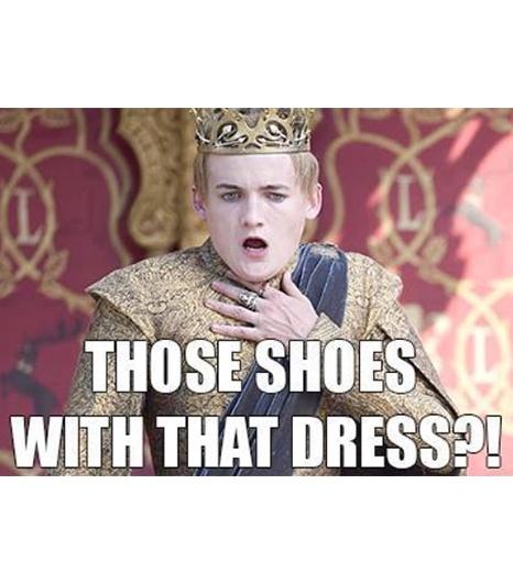 """""""Te buty z tą sukienką?"""""""