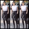Kim Kardashian w skórzanych buto-legginsach Tamary Mellon