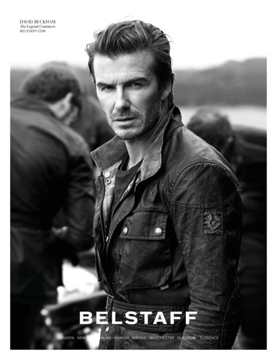 David Beckham i Andreea Diaconu dla Belstaff, fot. Peter Lindbergh